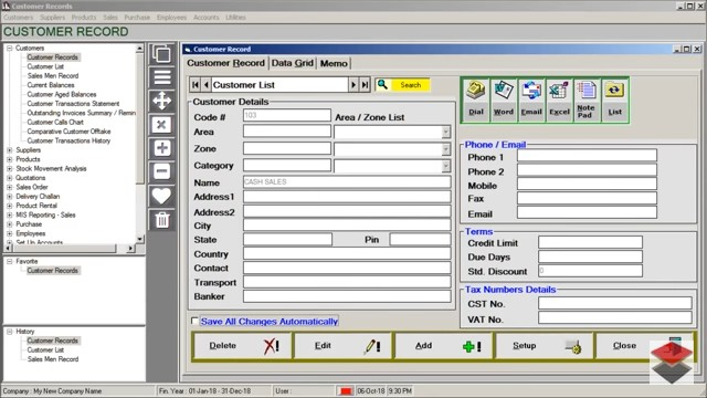 Accounting Software, Billing Software, Accounting Software, Invoicing, Inventory Control, Billing or Invoicing, POS, Inventory Control, Accounting Software with CRM for Traders, Dealers, Stockists etc. Modules: Customers, Suppliers, Products / Inventory, Sales, Purchase, Accounts & Utilities. Free Trial Download.