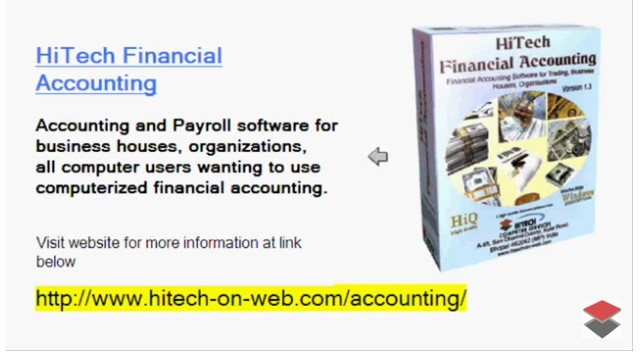 HiTech Financial Accounting Download - Accounting - Powerful and Easy accounting, Accounting Package, Free accounting, Company account Manager, solution for stock handling and billing management control, Barcode support inventory. No special barcode printer is required to print barcode.
