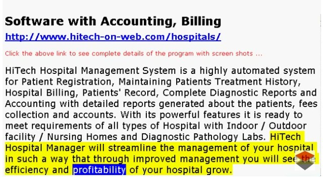 Financial Accounting Software for Business, Trade, Industry, Use HiTech Financial Accounting and Business Management Software made specifically for users in Hospitals, Doctor's Clinic, X-Ray Labs etc. Increase profitability through enhanced business management.