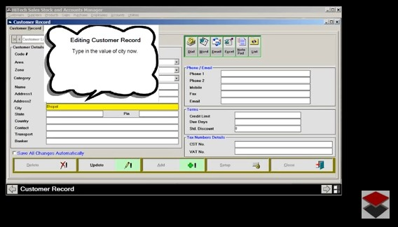 Invoice Software, Inventory Control Software, Invoicing, Accounting Software, Billing or Invoicing, POS, Inventory Control, Accounting Software with CRM for Traders, Dealers, Stockists etc. Modules: Customers, Suppliers, Products / Inventory, Sales, Purchase, Accounts & Utilities. Free Trial Download.
